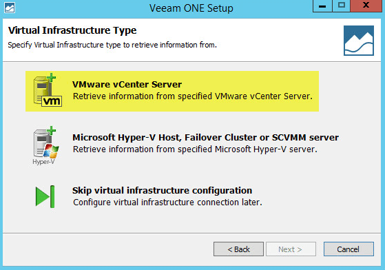 Veeam ONE 11 - Virtual Infrastructure Type