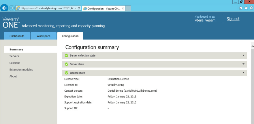 Veeam ONE 21 - Configuration