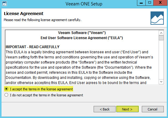Veeam ONE 3 - License Agreement