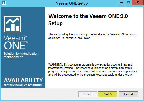 Veeam ONE 3 - Welcome