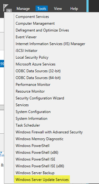 WSUS Config 1 - Windows Server Update Services