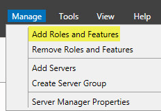 WSUS Install 1 - Add Roles and Features