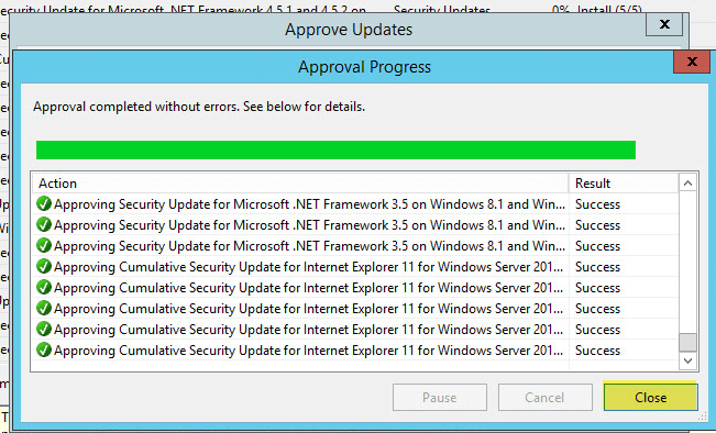 WSUS Updates 3 - Updates Approved