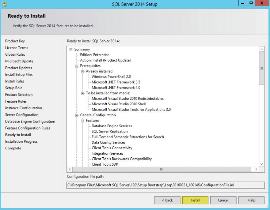 Microsoft SQL 2014 11 - Ready to Install