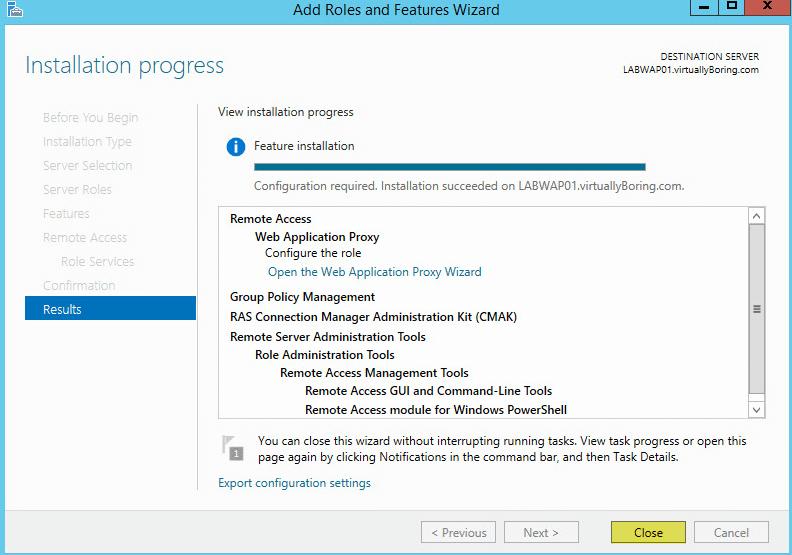 Microsoft Web Application Proxy 10 - Results