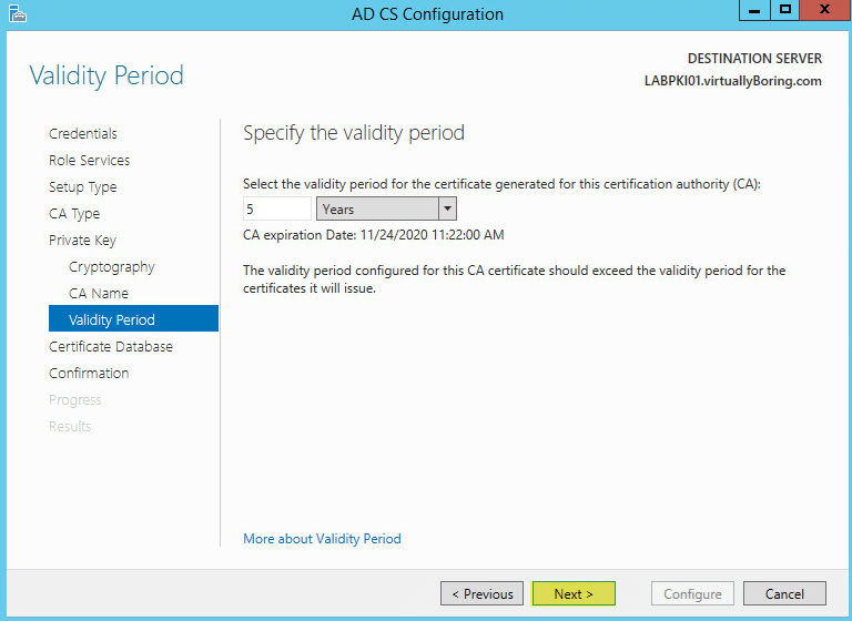 How to setup Microsoft Active Directory Certificate Services [AD CS] - VirtuallyBoring