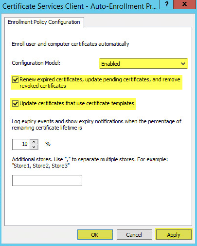 PKI 37 - Group Policy - Enable Certificate Enrollment