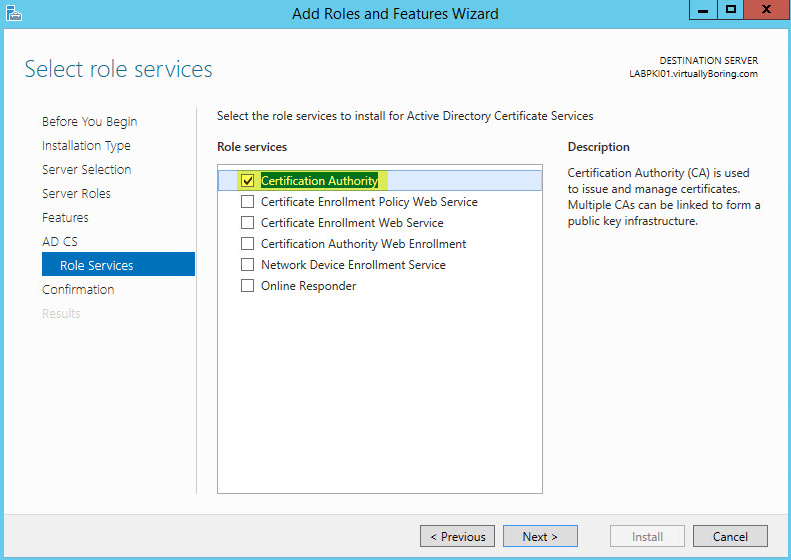 How to setup microsoft active directory certificate services ad pki 8 role services yadclub Image collections