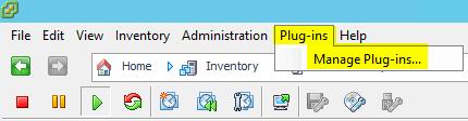 VUM Configure 1 - Manage Plug-ins