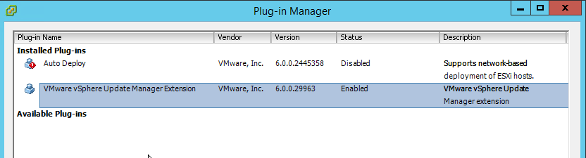 VUM Configure 4 - VUM Enabled