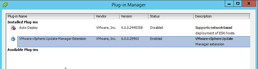 VUM Configure 4 - VUM Enabled