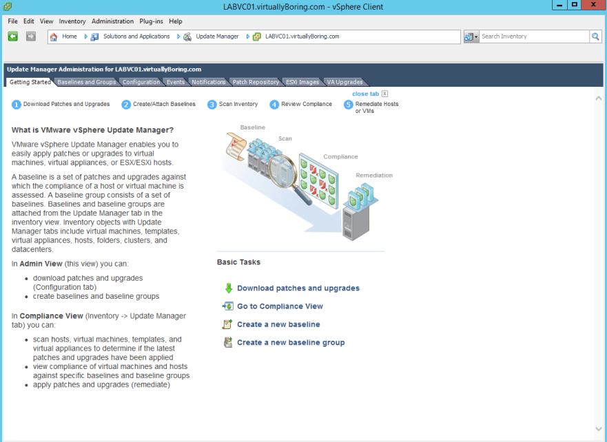 VUM Configure 6 - Welcome to VUM