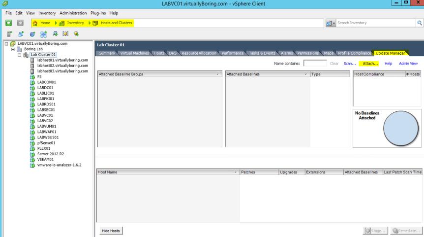 VUM Configure 9 - Attach Baseline