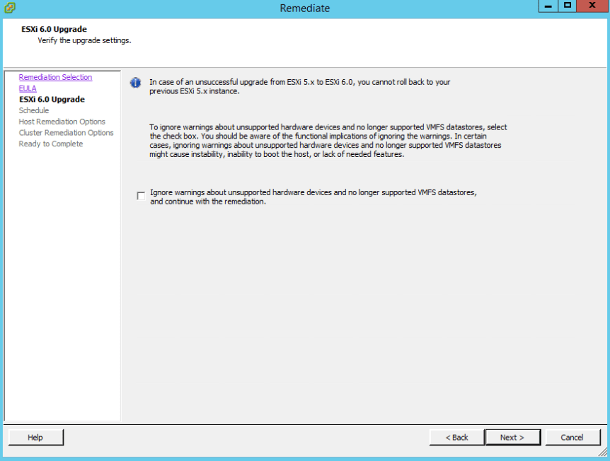 VUM ESXi Update 13 - ESXi 6 Upgrade