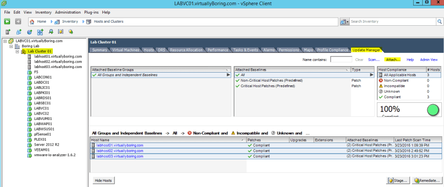 VUM ESXi Update 6 - Attach ESXi Upgrade Baseline