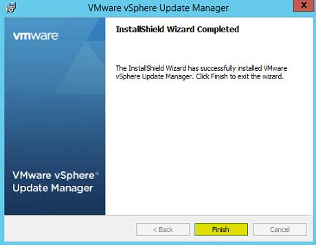 VUM Install 11 - Installation Complete