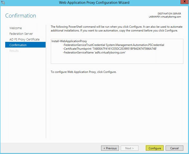 WAP Configuration 15 - Confirmation
