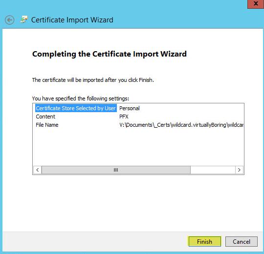 WAP Import Certificate 9 - Complete