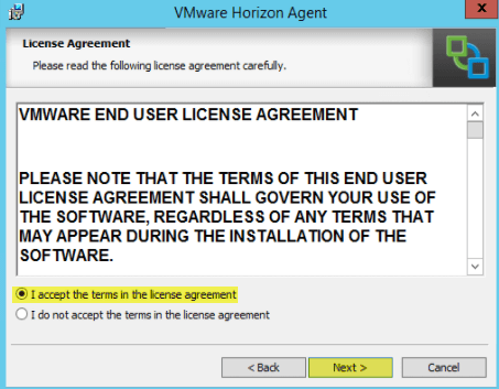 Add RDS Server to View 7 - 4 License Agreement