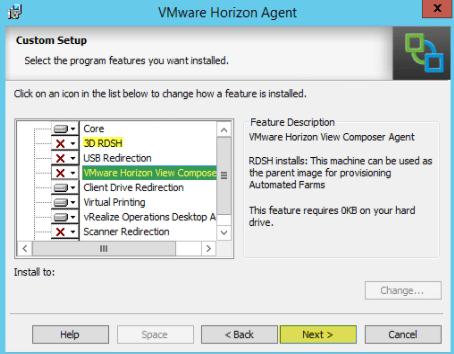 Add RDS Server to View 7 - 6 Custom Setup