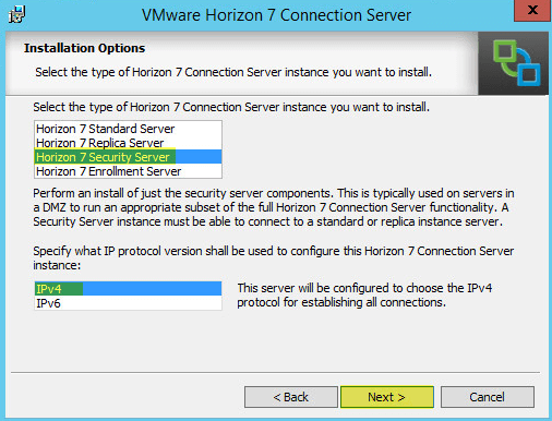 Horizon View 16 - Install Horizon 7 Security Server