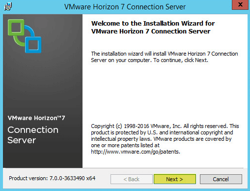 Horizon View 2 - Welcome to the Install