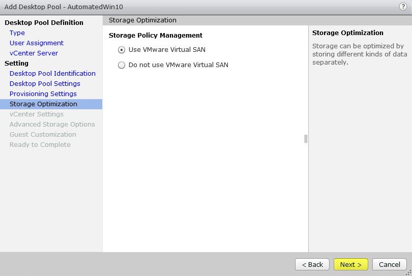 Horizon View 7 - 8 Storage Optimization