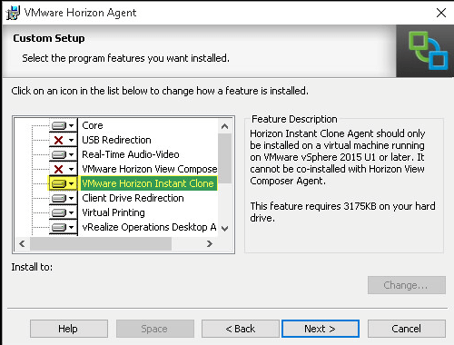 VMware Horizon View 7: Instant Clone Desktop Pool [Part 8