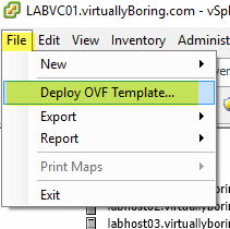 Log Insight Manager 1 - Deploy OVF Template