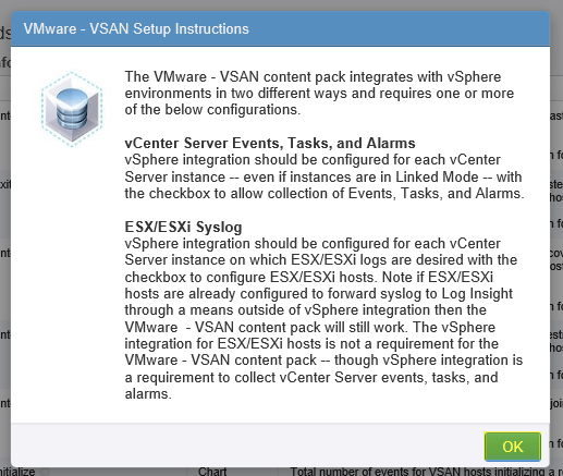 Log Insight Manager 25 - VSAN Setup Instructions