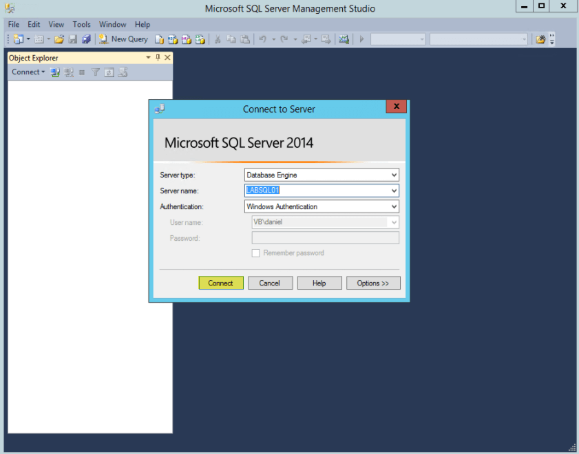 Login to SQL Studio Management