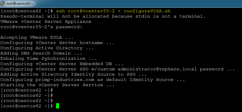 Completely automating vCenter Server Appliance (VCSA) 5 5