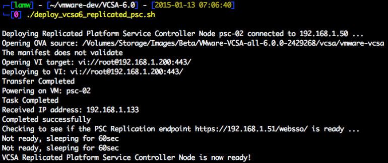 vcsa-6.0-replicated-platform-service-controller-node-deployment