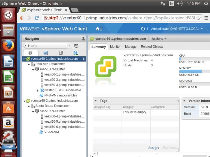 Accessing the vSphere Web Client from a Linux desktop?