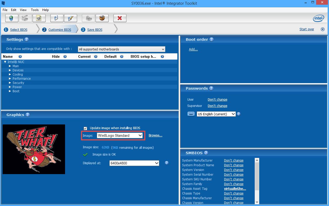 Adding custom VSAN BIOS splash screen to the Intel NUC
