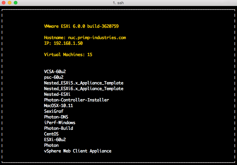 Customizing the ESXi DCUI to show number of VMs
