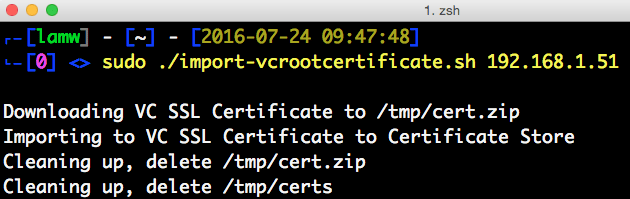 Automating the import of vCenter Server 6.x root certificate