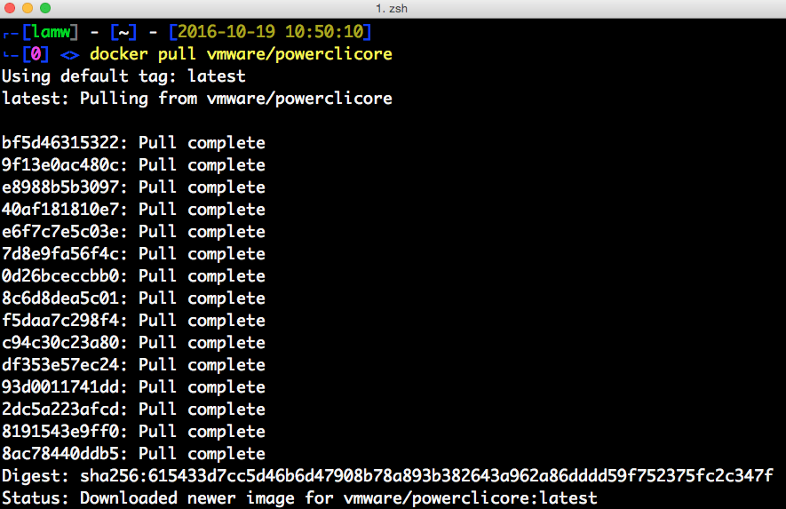 PowerCLI Core is now available on Docker Hub!