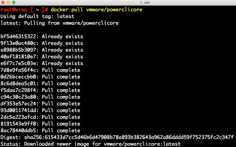 docker-container-on-vcsa-6-5-3