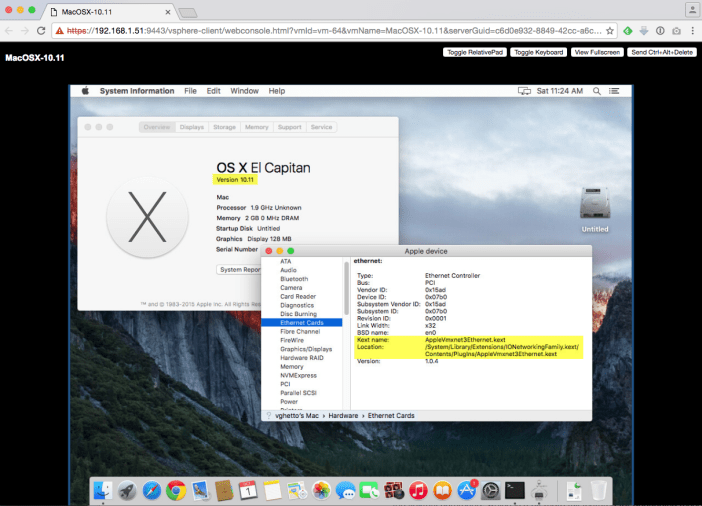 VMXNET3 driver now included in Mac OS X 10 11 (El Capitan)+
