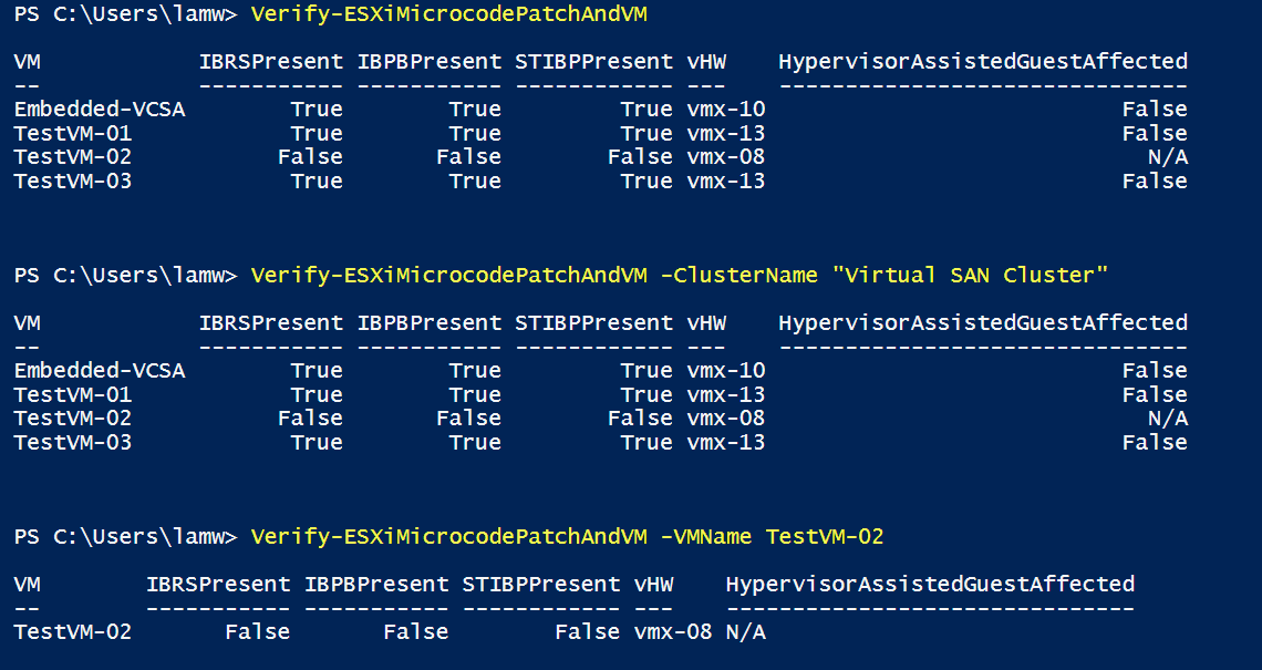 Verify Hypervisor-Assisted Guest Mitigation (Spectre