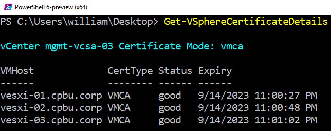 Is Vcenter Server Esxi Hosts Using Vmware Certificate Authority