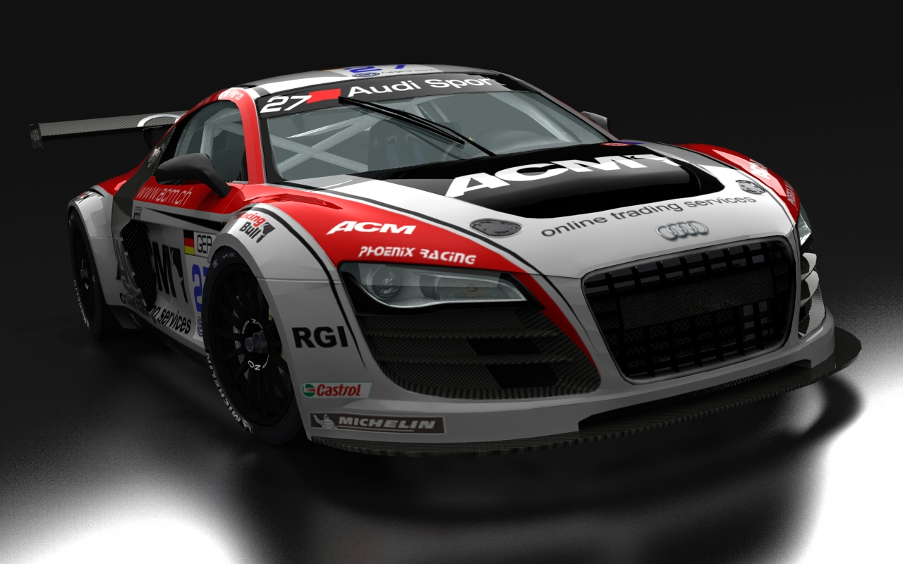 Audi R8 Matte Black Wallpaper Audi R8 Gt3 For Rfactor New Previews Virtualr Net