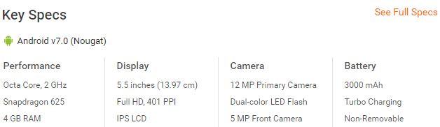 moto g5 plus in india price
