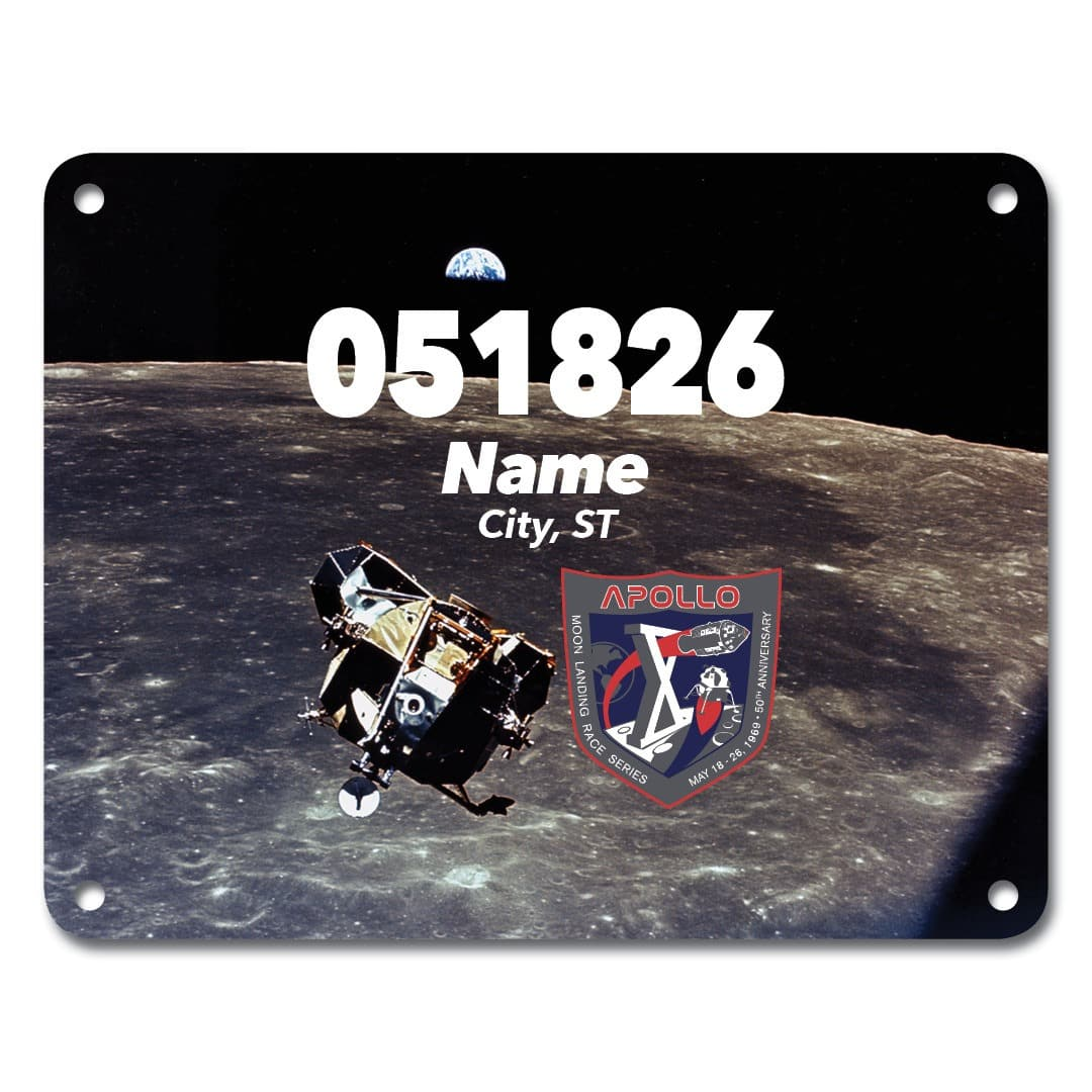 Apollo 10 Virtual Race Bib