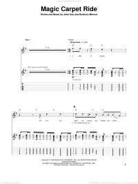 Steppenwolf - Magic Carpet Ride sheet music for guitar ...