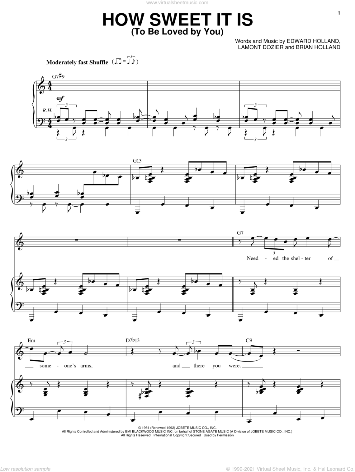Download Buble - How Sweet It Is (To Be Loved By You) sheet music ...