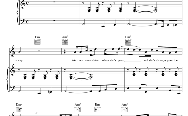 Play Aint No Sunshine On Alto Sax Chapter 2 5 Cute766 Download and print ain't no sunshine sheet music for piano chords/lyrics by bill withers from sheet music direct. aint no sunshine on alto sax chapter