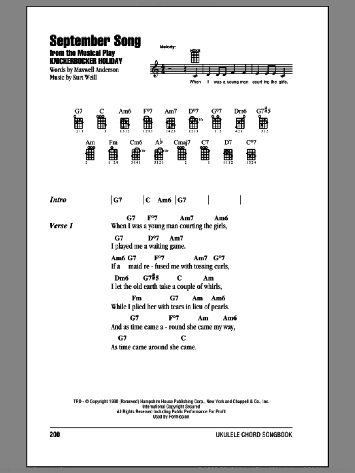 mobile home additions band stage setup diagram sinatra - september song sheet music for ukulele (chords) [pdf]