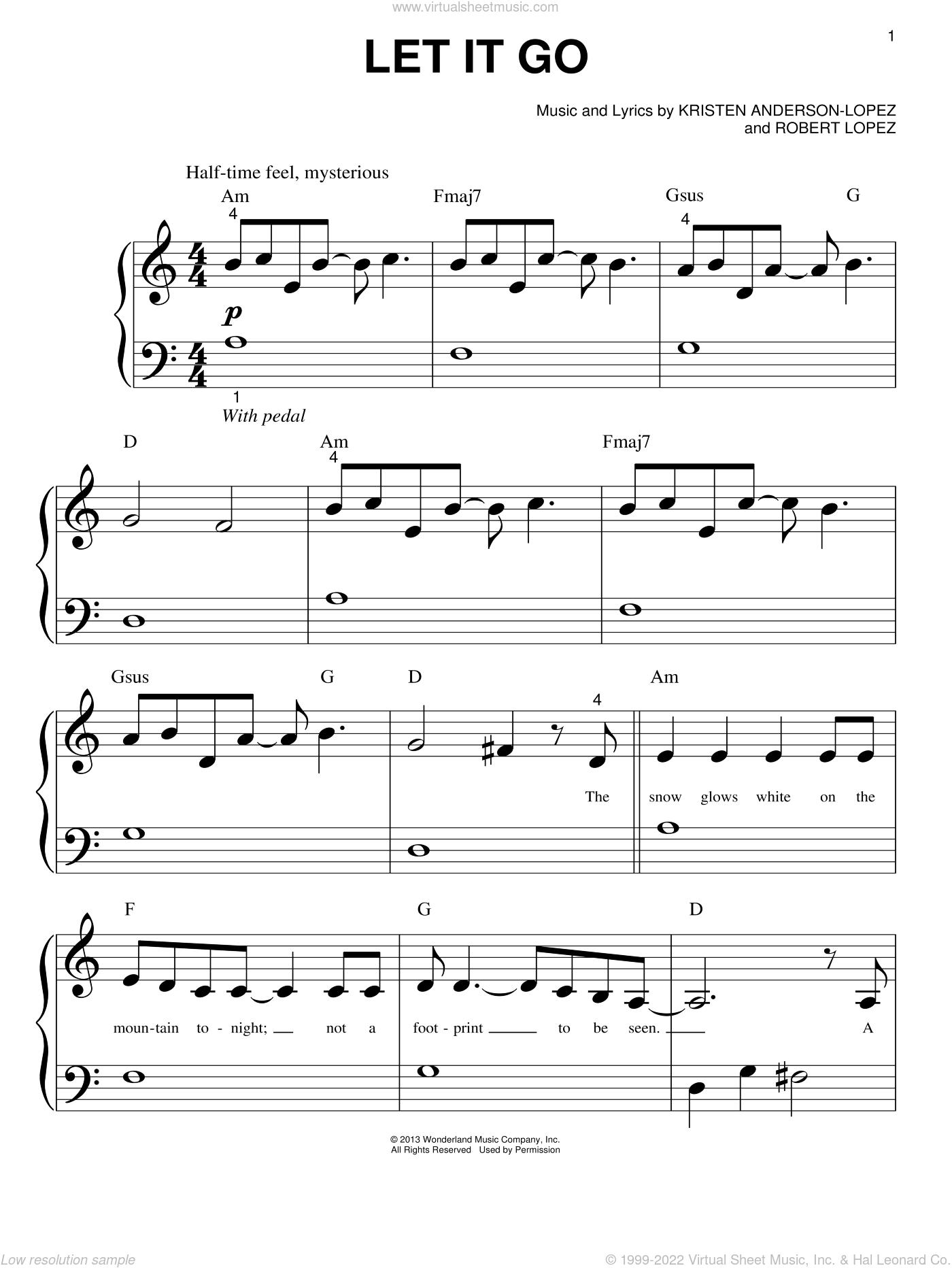 Frozen Sheet Music Flute Let It Go